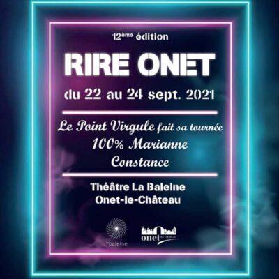 Festival RIRE ONET du 22 au 24 Septembre 2021